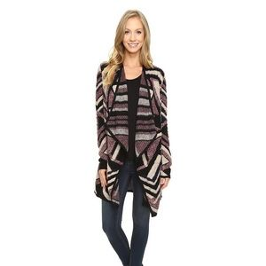 NWT Lucky Brand Aztec Open Front Sweater